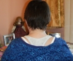 Dec '08; 1-2 inches of growth. Here is another Breast Cancer client, who is also growing her hair out. 300 strands needed to create this undetectable look.